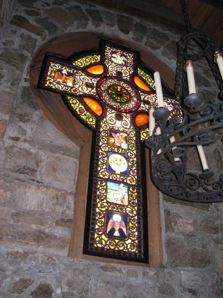 Love this Celtic cross by Louis C. TIffany Studio