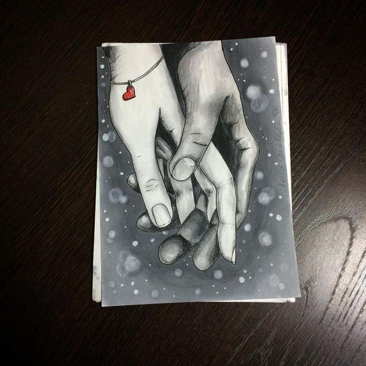 Love favorites. Маркеры, линер и черный карандаш. #alexandradikaia_ldc #sketch #скетч #спиртовыемаркеры #love #colorpencil #art #illustration #руки #рукавруке #hands #heart #сердце