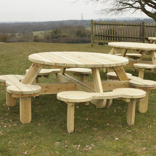 25 Best Ideas About Round Picnic Table On Pinterest Picnic Tables Round P