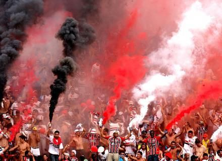 Supporters of Sao Paulo Football Club