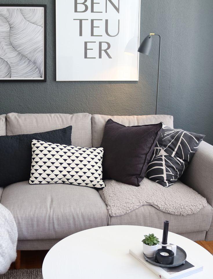 Wohnzimmer Updates & ein neuer hellgrauer Sofabezug.