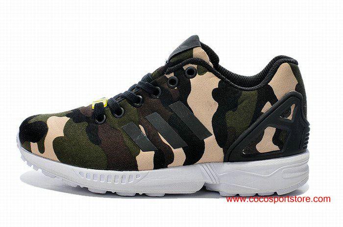 Adidas Originals ZX Flux Womens Camo Liftstyle Runnning Shoes