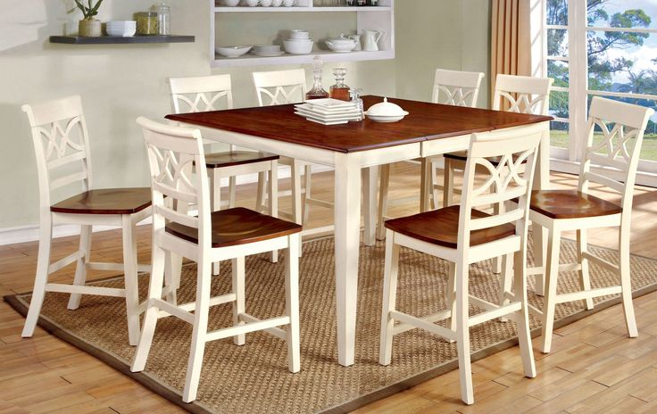 Exenia 9 Piece Counter Height Pub Dining Set
