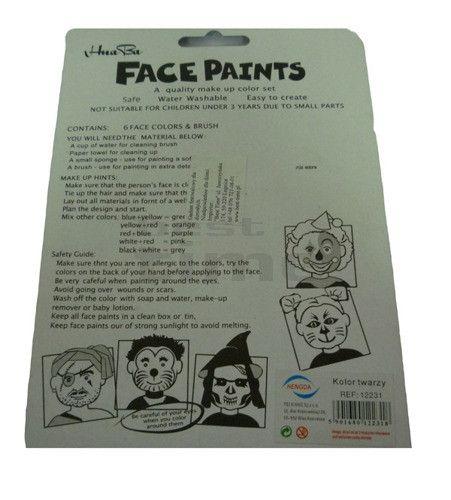 Farbki do malowania twarzy i ciała | Przebrania | Upominki24.com