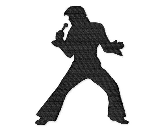 Elvis Presley Silhouette Embroidery Design By
