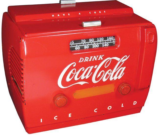 Coca Cola Cooler Radio : Lot 893