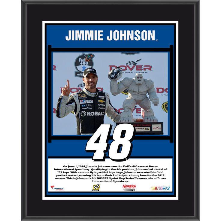 """Jimmie Johnson Fanatics Authentic 10.5"""" x 13"""" 2014 NASCAR Sprint Cup Series Race at Dover International Speedway Race Winner Sublimated Plaque - $29.99"""