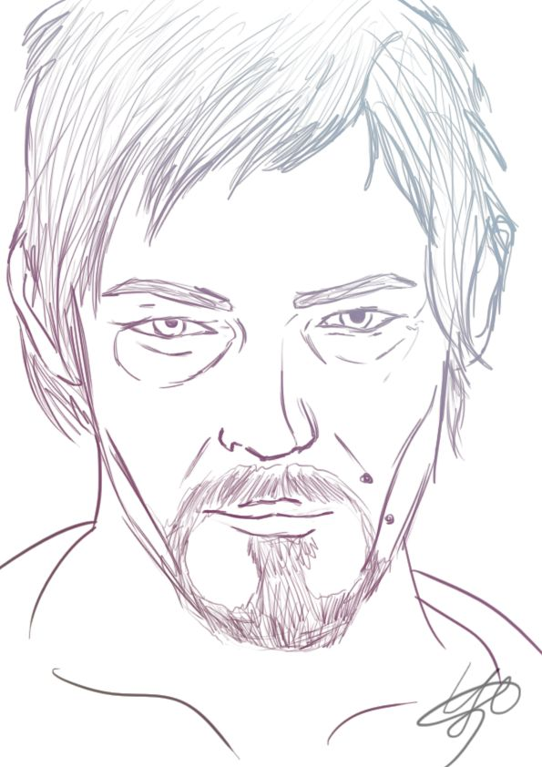 daryl dixon coloring pages - photo#11