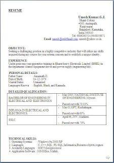 teachers resume samples Sample