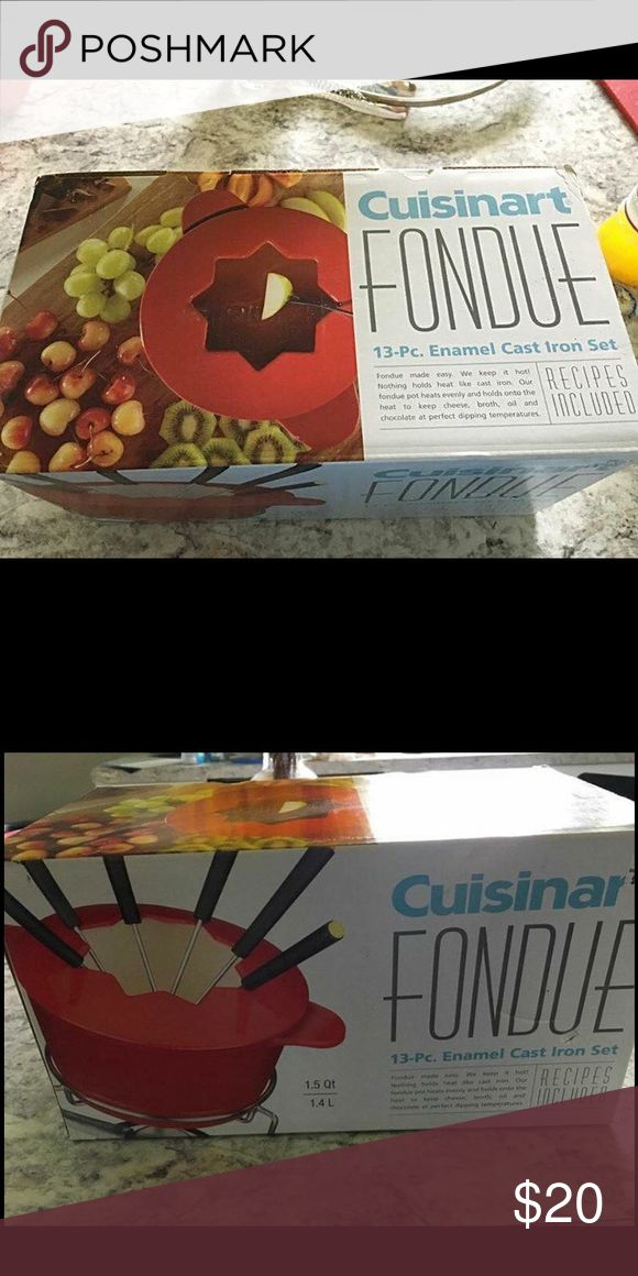 Cuisinart fondue maker - new in box 📦 NIB-New in box. Never took it out of the box. Brand new. Cuisinart Other