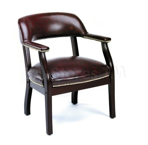 Chairs Furniture Office Bosss Burgundy Vinyl - Desks & Home Office Furniture