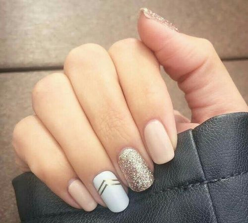 best imagen de nails and white with uas de gel dibujos - Uas De Gel Cortas