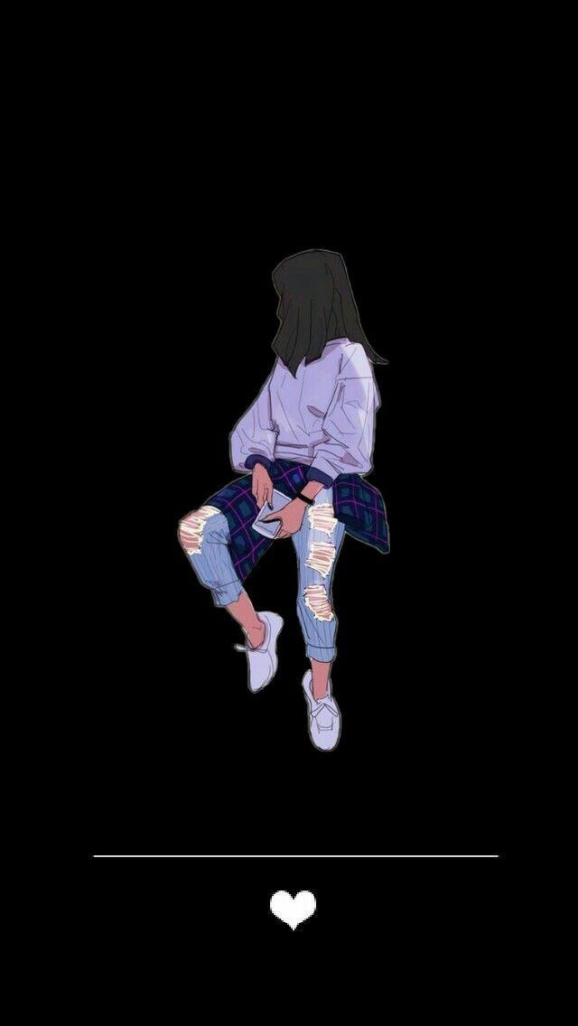 Wallpaper Tumblr Fofo Black Preto Girl Trouxes Dengan Gambar