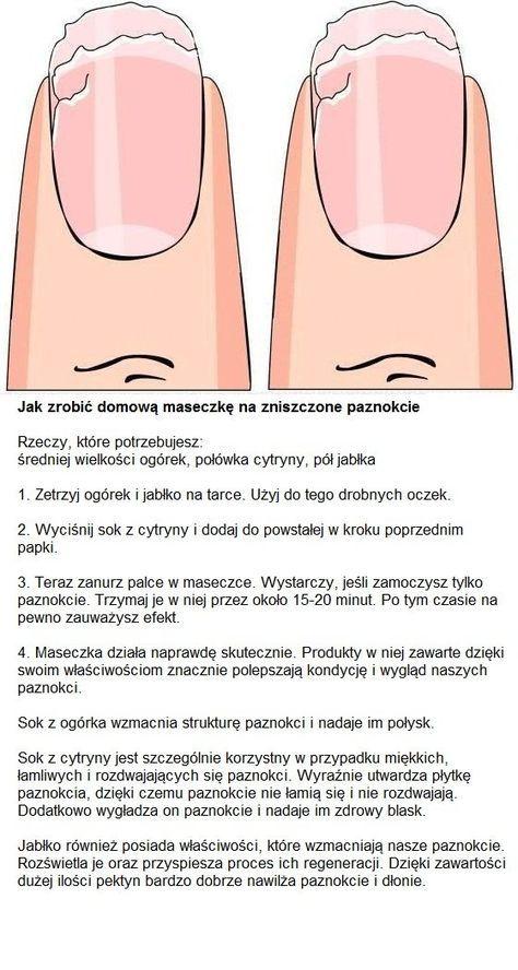 Jak zrobić domową maseczkę na zniszczone paznokcie...