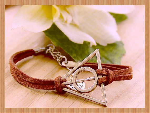 Triangle  Faux suede adjustable bracelet   Harry by tranquilityy