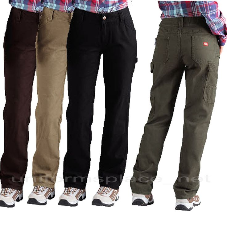 Dickies Pants Womens Relaxed Straight Fit Carpenter Work Duck Jeans Fd2300 Color