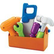 Small toys. Christmas Gift Box / Christmas Shoebox Idea