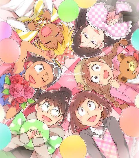 Osomatsu-san / Joshimatsu-san Characters:Osoko/Choroko/Karako/Juushiko/Ichiko/Todoko