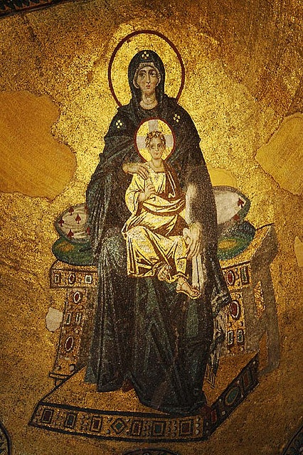 The Virgin and Child Enthroned, 847, Hagia Sophia, Constaninople