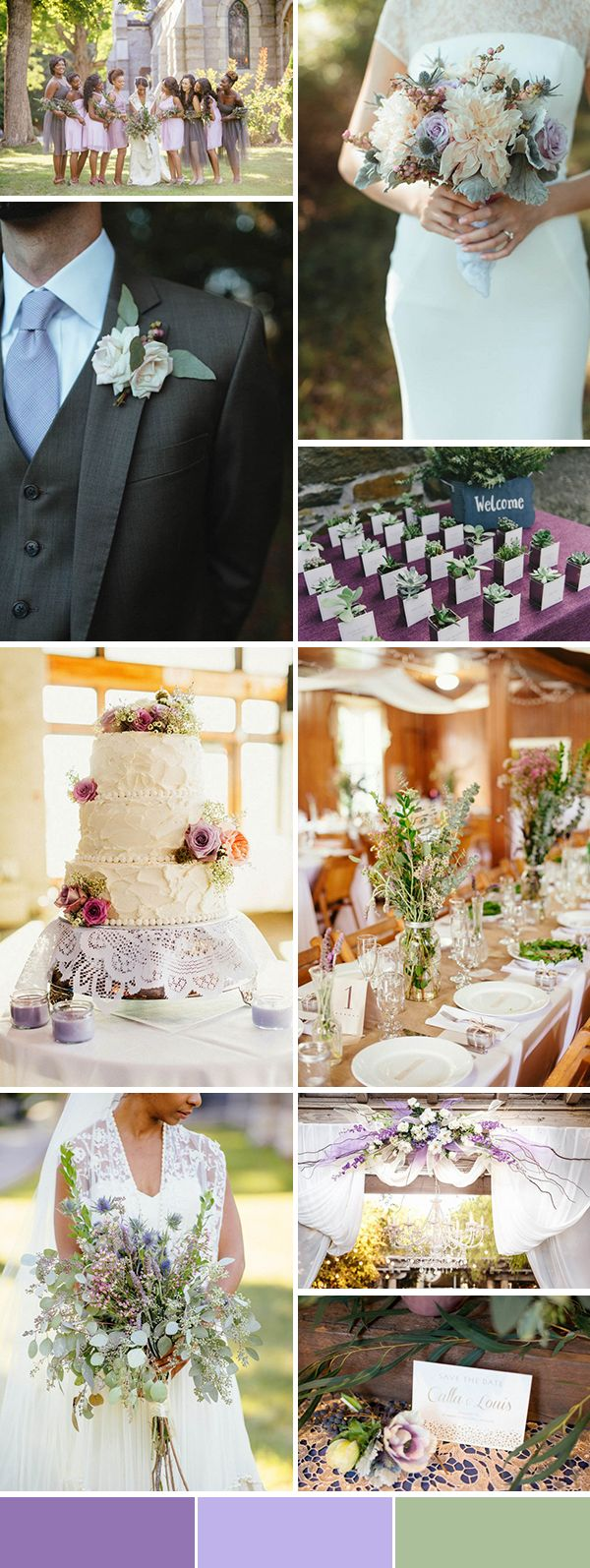 Lavender and Sage wedding color palette inspiration