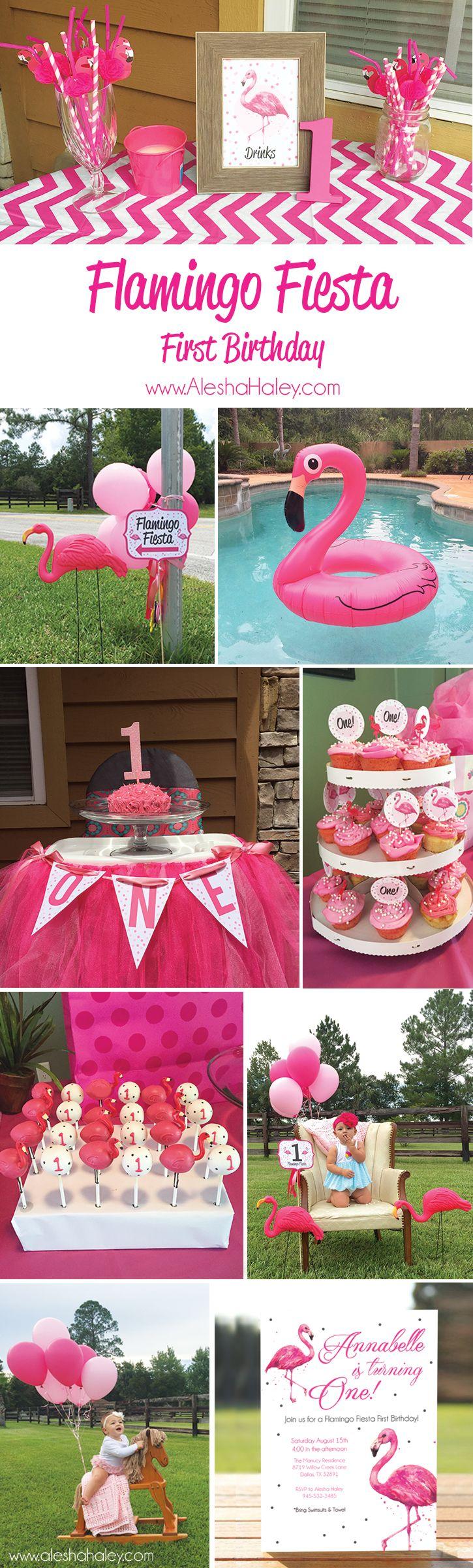 Flamingo Fiesta {First Birthday} + FREE Printable
