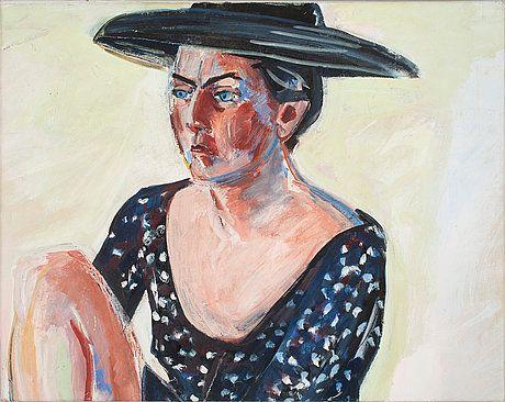 """LENA CRONQVIST (1938-) """"Portrait of Magdalena Olsson"""""""