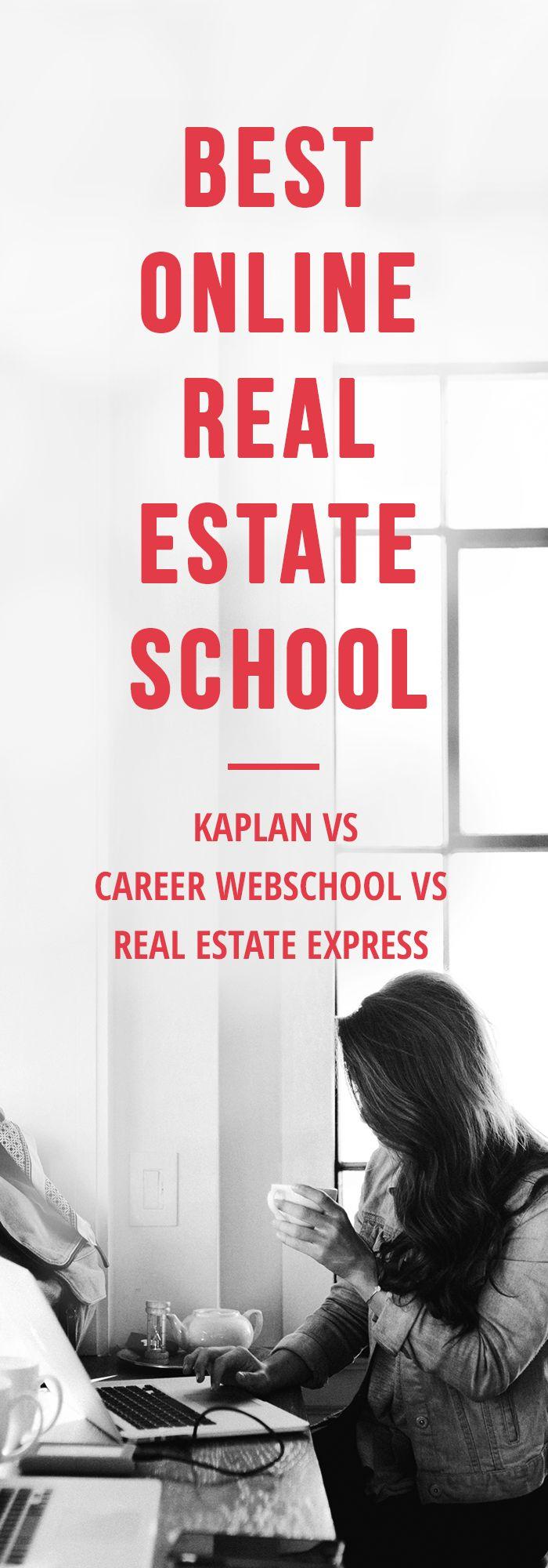 Best Online Real Estate School – Kaplan vs Career Webschool vs Real Estate Express