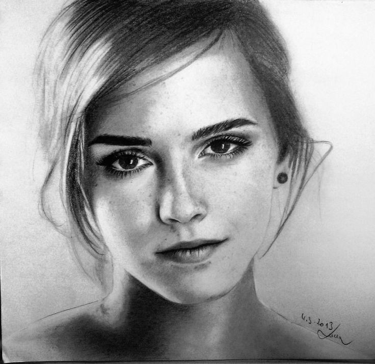 Emma Watson Drawing by MissRoxyMFC.deviantart.com on @deviantART