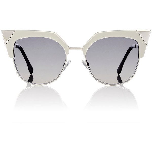Fendi Women's Cat-Eye Sunglasses ($505) ❤ liked on Polyvore featuring accessories, eyewear, sunglasses, glasses, multi, etched glasses, logo sunglasses, fendi glasses, cat eye sunglasses and see through sunglasses
