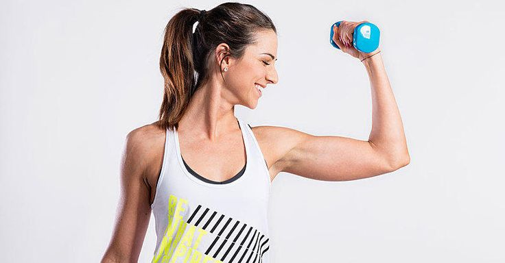 All you need are a set of dumbbells to for this quick at-home workout.