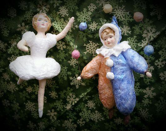 Коллекционные куклы ручной работы. Ватная елочная игрушка. Елена Коверзнева (ElenaKoverzneva). Ярмарка Мастеров. Новый Год, символ года