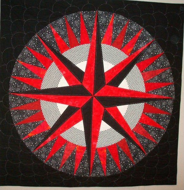 mariner's compass quilt pattern | mariner s compass done the easy way with quilt smart fusible patterns ...