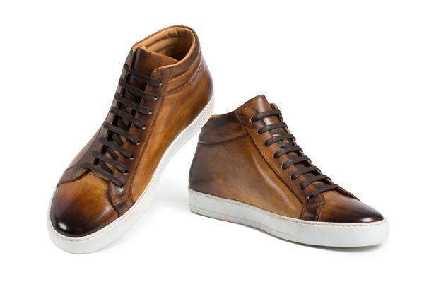 stefano borella Monet cognac sneaker