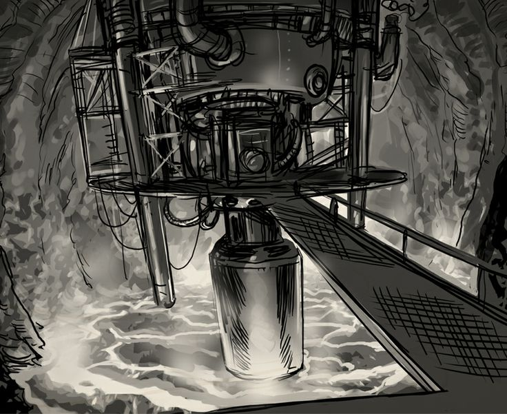 The Bridge. Concept art from Clockwork Tales: Of Glass and Ink #steampunk #adventure #game www.artifexmundi.com/page/clockwork/ www.facebook.com/ArtifexMundi.ClockworkTales