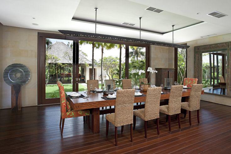 Dining room at Bendega Nui Bali  http://prestigebalivillas.com/bali_villas/bendega_nui/23/live_availability/
