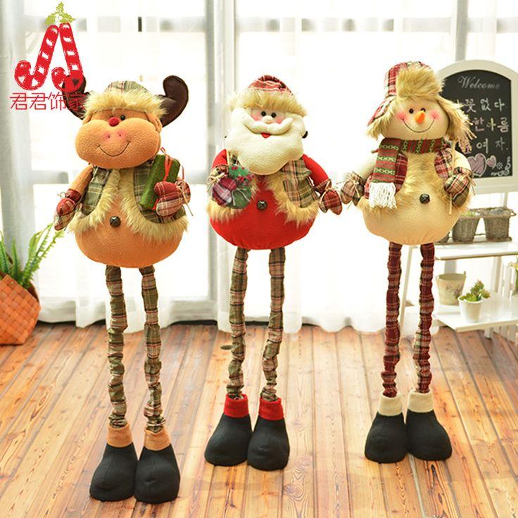 120CM Телескопические большой лось Рождественские украшения Санта-Клаус Рождественский подарок плюшевые снеговик Рождественский подарок - Taobao