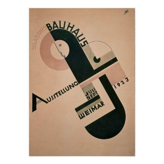 Vintage Germany, 1923 Bauhaus Poster