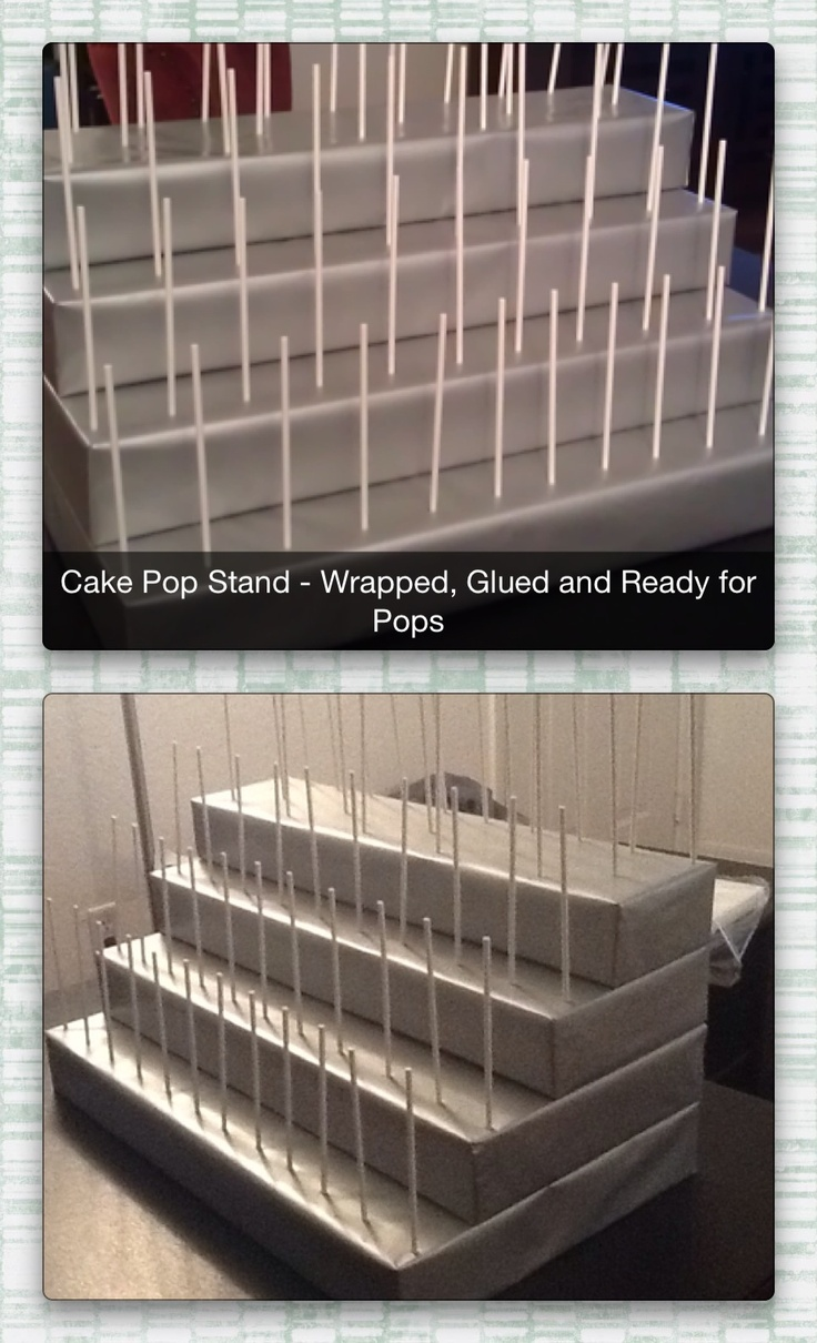 Completed 4-Tiered Cake Pop Stand