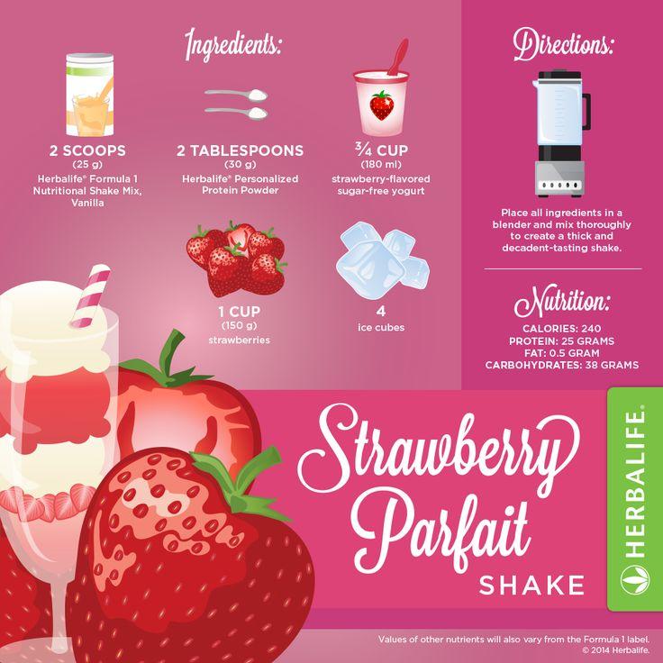 Herbalife Strawberry Parfait Shake                                                                                                                                                                                 More