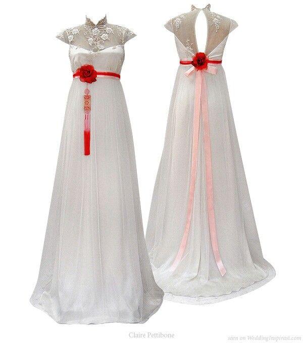 Hanbok inspired gown by Claire Pettibone in Wedding Inspirasi