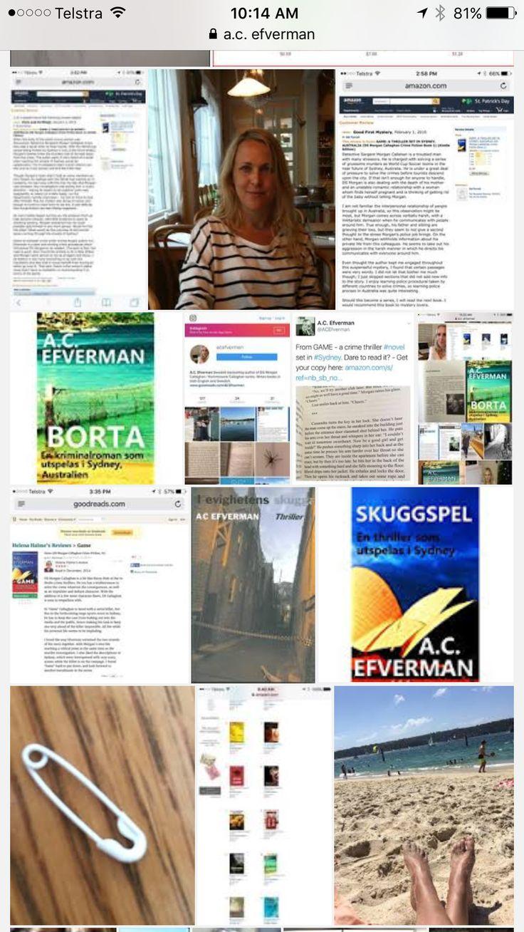 A.C. Efverman Swedish crime fiction author based in Sydney, Australia.  #books #swedish #deckare #amazon #bestseller #a.c.efverman