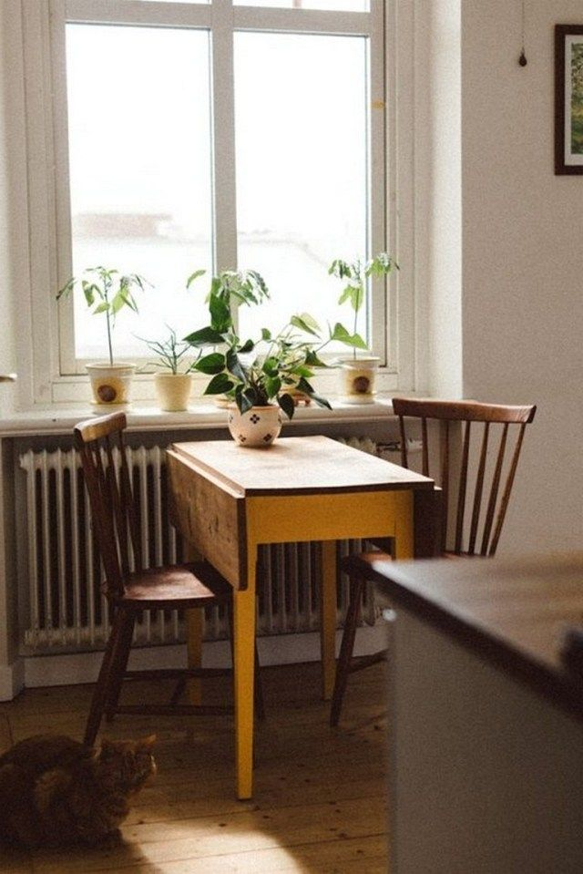 105 beautiful small kitchen tables ideas for every space and budget rh pinterest es