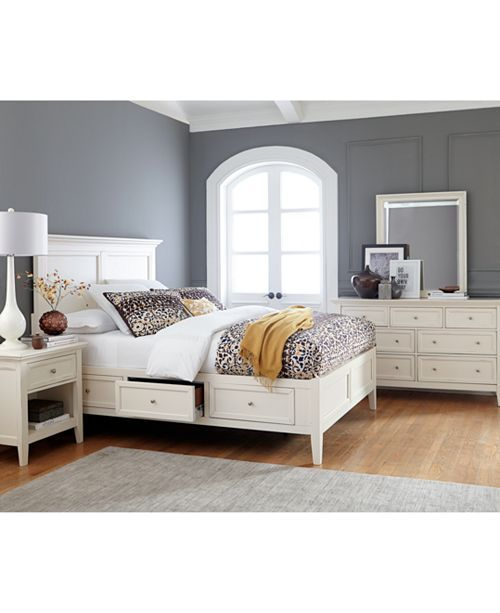 sanibel storage platform bedroom furniture collection created for rh pinterest com