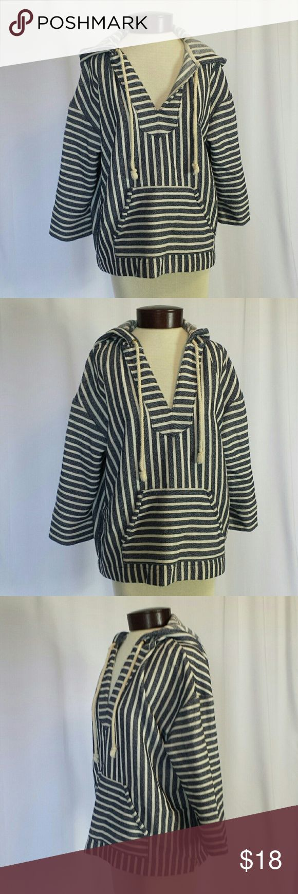 J.CREW Nautical Beachy Boho Top This adorable J.CREW Nautical Beachy Boho Top is perfect for festivals, beach bond fires, or sailing away!  By J.CREW Size M (meant to be slouchy, not fitted) Excellent condition  Never worn  Measurements  25 long 46 inch bust   Cotton Poly blend Tops