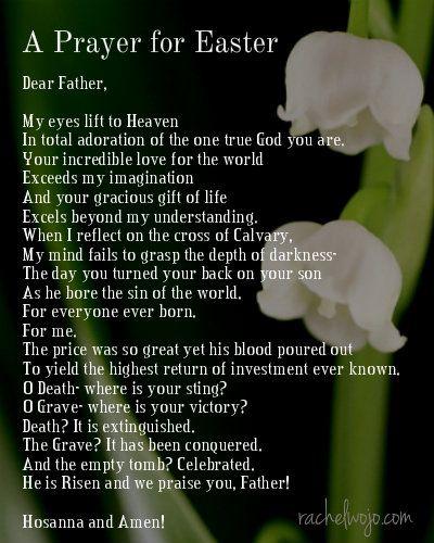 An Easter Prayer- Hallelujah- He is risen!!