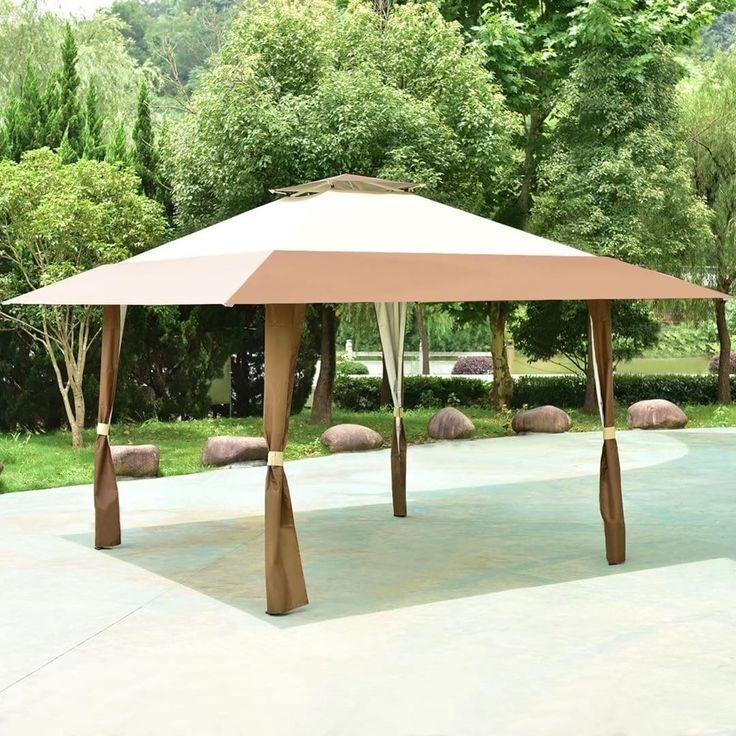 13x13 Folding Gazebo Canopy Shelter Awning Tent Patio Garden Outdoor F311917894178