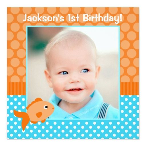 Best St Birthday Invitations Images On Pinterest Birthday - Goldfish birthday invitation