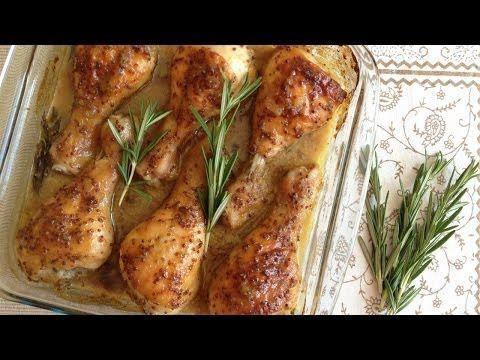 Muy Locos Por La Cocina: Pollo Asado con Mostaza, Miel y Romero Fresco