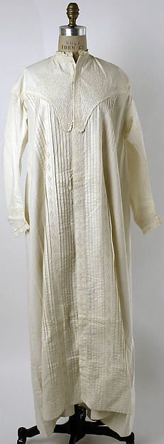 Nightgown (image 1) | American or European | 1860s | cotton | Metropolitan Museum of Art | Accession #: C.I.41.54.3
