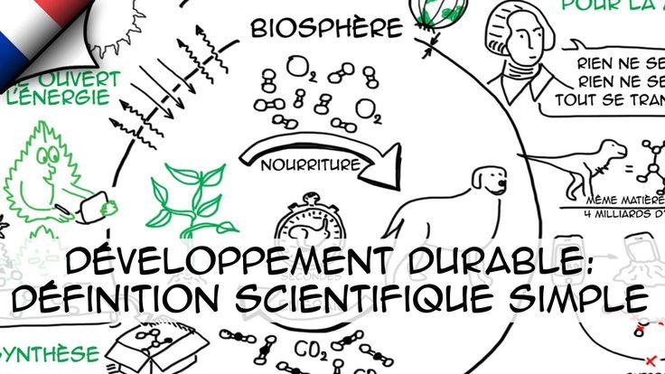 Développement durable: définition scientifique simple (Ep.1)
